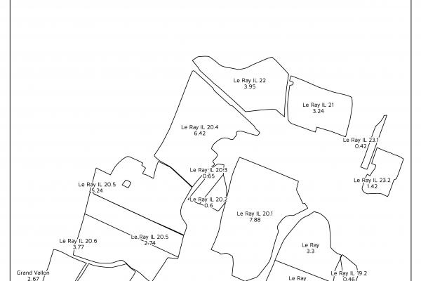 carte cartographie agriculture agricoleGPS parcelle surface SIG supeficieplan