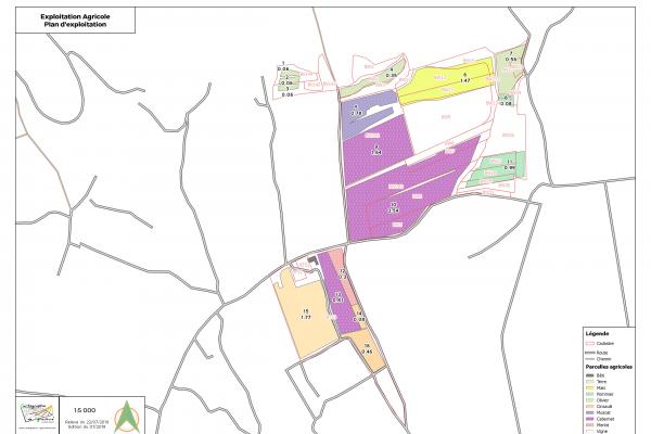 agriculture GPS carte carto cartographie parcelle agricole SIG plan surface superficie couleur culture exploitation