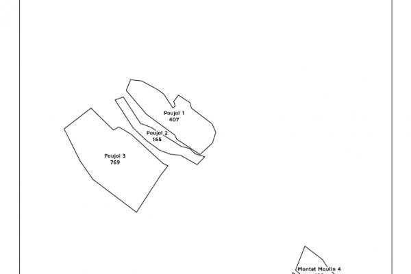 agriculture GPS carte carto cartographie parcelle agricole SIG plan surface superficie noir et blanc culture exploitation